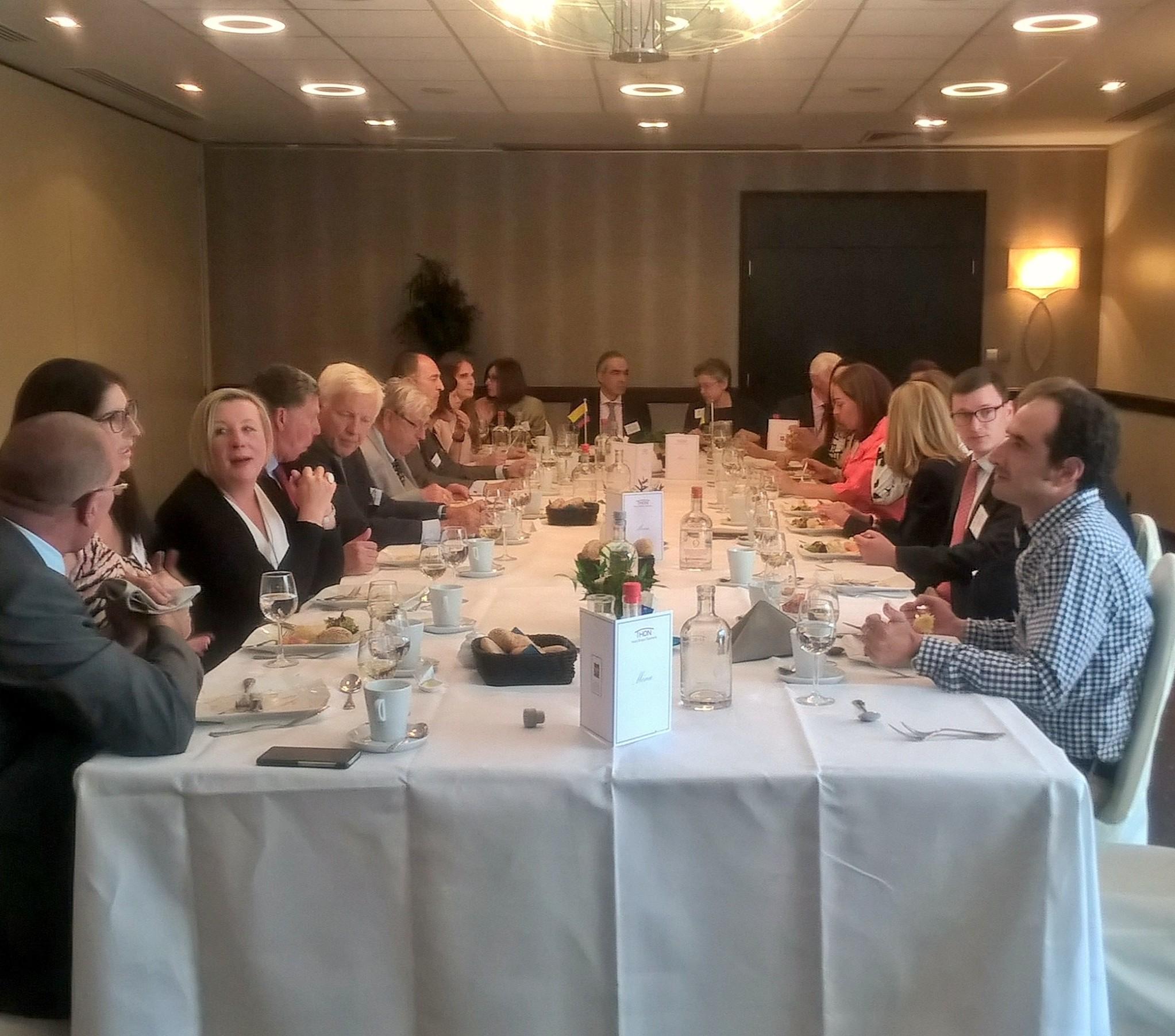 Almuerzo nuevo Embajador de Bélgica en Colombia Hotel Bristol