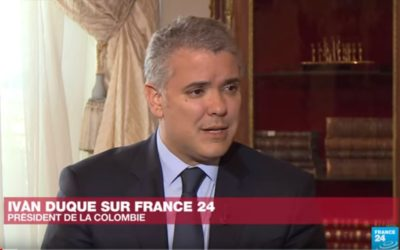 Colombian President Yvan Duque on France 24  – Interview